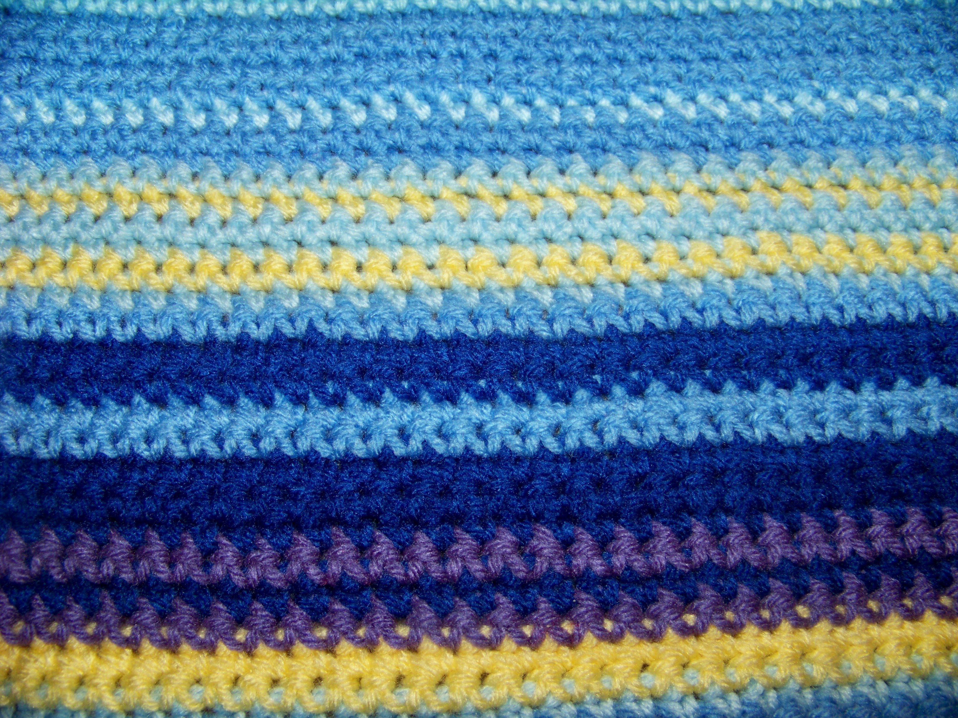 Crochet Quilt Stitch : Crocheted Temperature Blanket - Stitching in the Woods